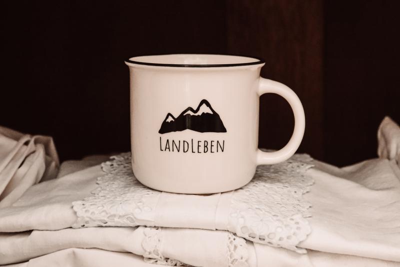 Keramiktasse Landleben